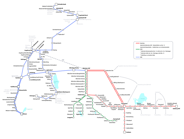 Streckennetz Meridian, BOB und BRB