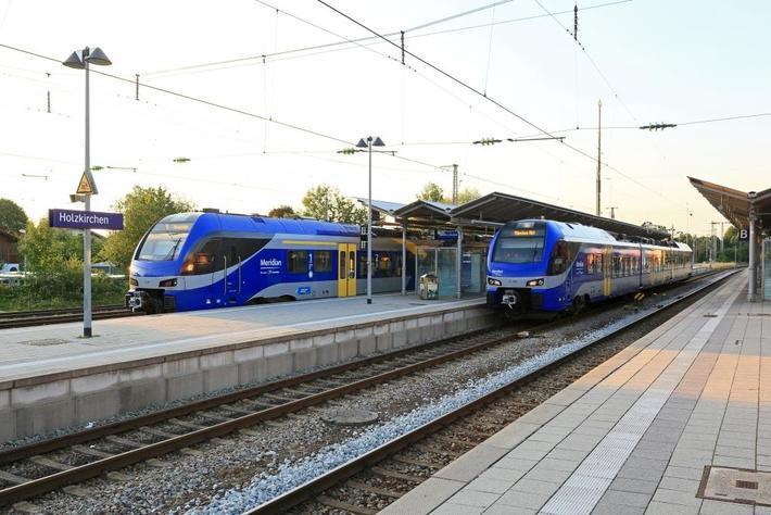 Der Meridian im Bahnhof Holzkirchen