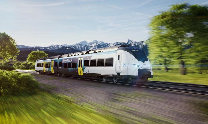 """Der """"Mireo Plus H"""" von Siemens Mobility wird ab Januar2024 in zwei Netzen der BRB eingesetzt. Foto: Siemens"""