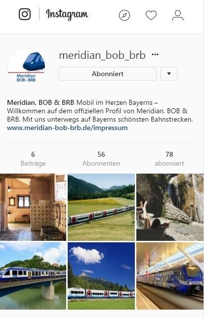 Meridian, BOB & BRB auf Instagram