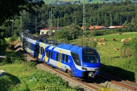 Mit dem Meridian und der Südostbayernbahn (SOB) ins Voralpenland