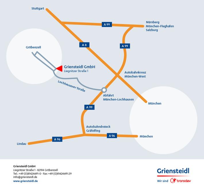 Anfahrtsskizze Griensteidl GmbH
