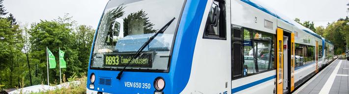 Ein Triebwagen der Hunsrückbahn