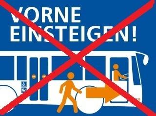 Kein Vordereinstieg im Bus