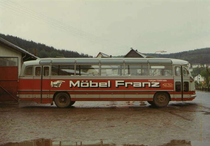 Überlandbus in den 1970er Jahren
