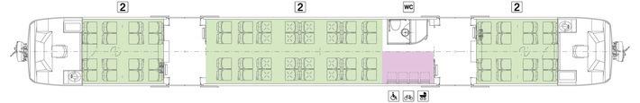 Schematischer Regio-Shuttle Querschnitt Plan