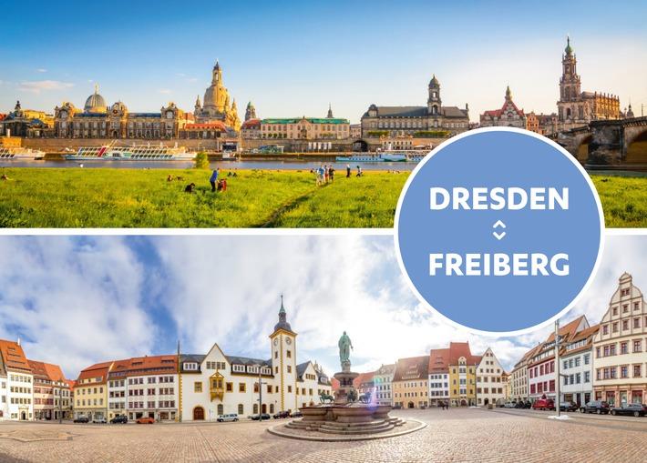 Bestpreis für Dresden und Freiberg