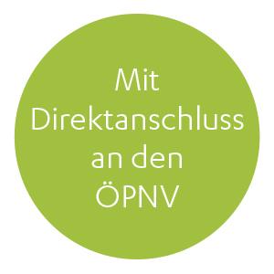 Mit Direktanschluss an den ÖPNV
