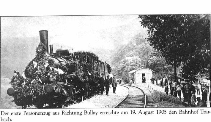 Jungfernfahrt im Jahre 1905