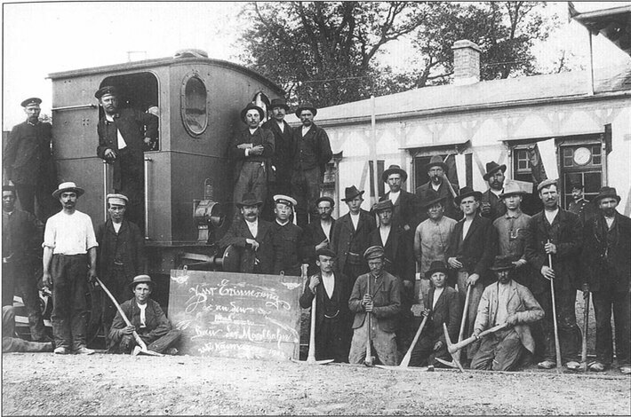 Arbeiter in Neumagen (28.5.1903)