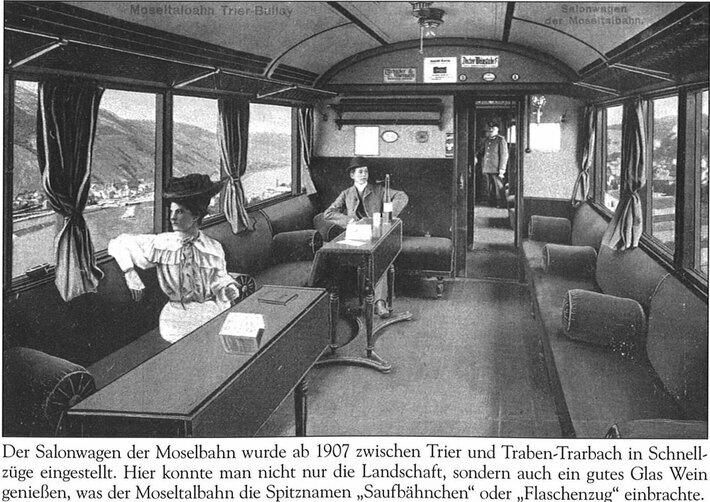 Ein Salonwagen der Moselbahn