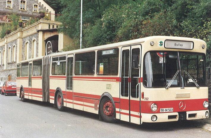 Ein Bus der Firma Vetter 1986 in Traben-Trarbach