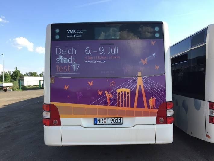 Buswerbung bei der NVG Bogel