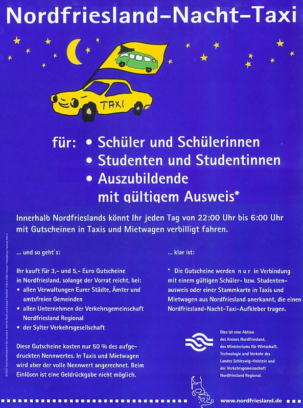 NF-Nachttaxi-Plakat