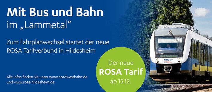 Zum Fahrplanwechsel am 15. Dezember 2019 staret der neue ROSA Tarifverbund in Hildesheim.