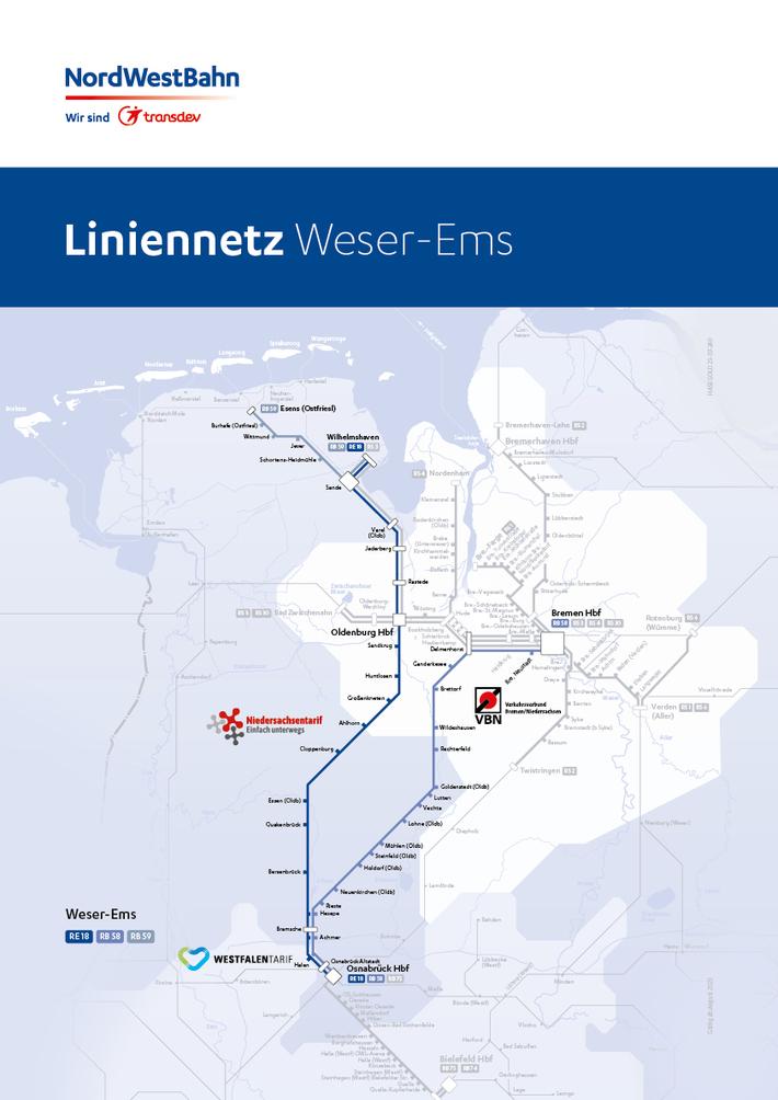 Liniennetz Weser-Ems