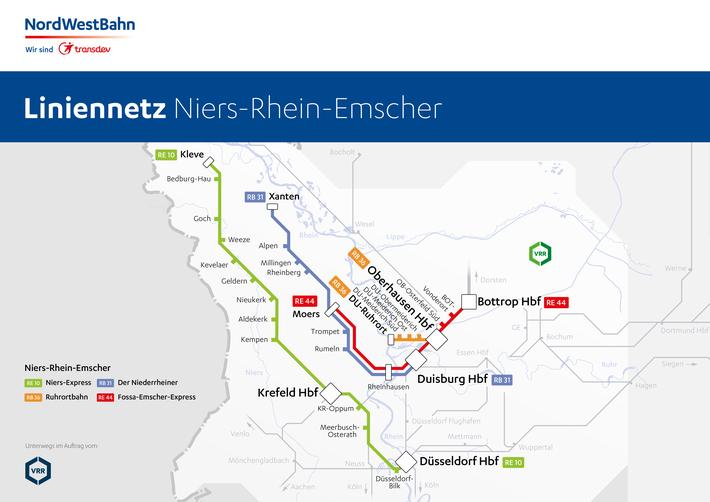 Liniennetz Emscher-Münsterland