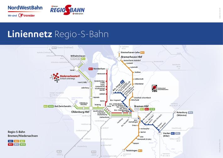 Liniennetz Regio-S-Bahn