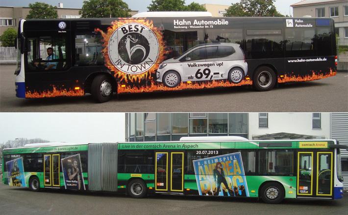 OVR Busse mit Außenwerbung