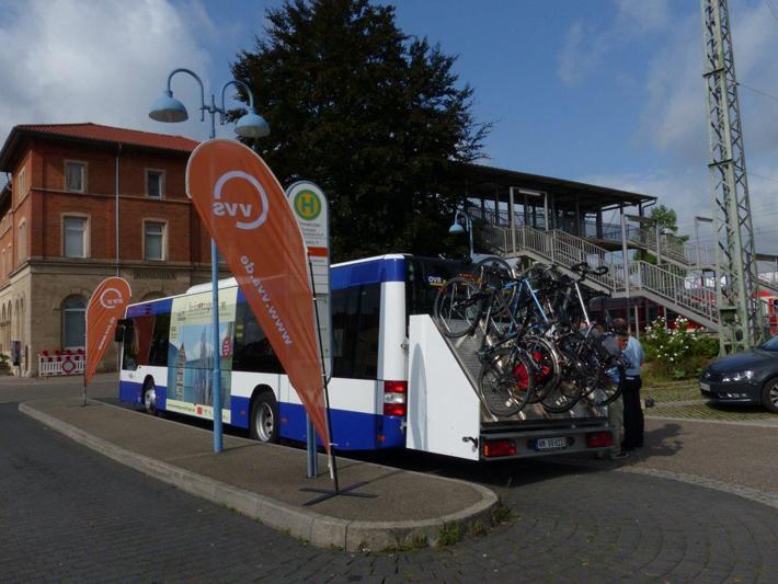OVR Bus mit Radanhänger Fahrrad2Go