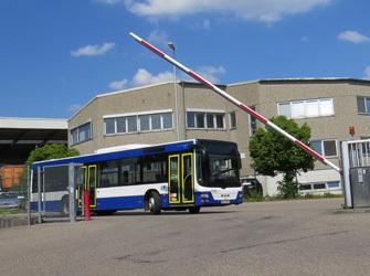 OVR Betriebsgelände in Backnang mit Bus