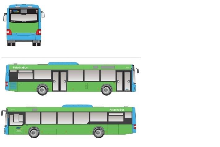 Buswerbung Werbeflächen auf Bus schematische Ansicht