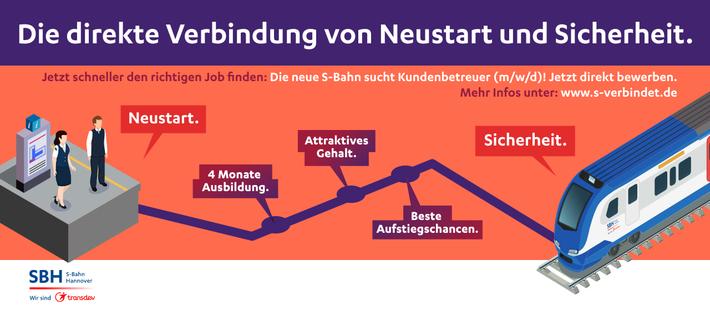 Deine Verbindung zu einem sicheren Job in nur vier Monaten – werde Kundenbetreuer (w/m/d) bei der neuen S-Bahn Hannover!
