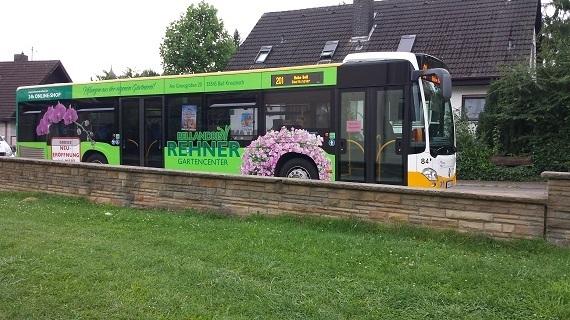 Werbung auf unseren Bussen