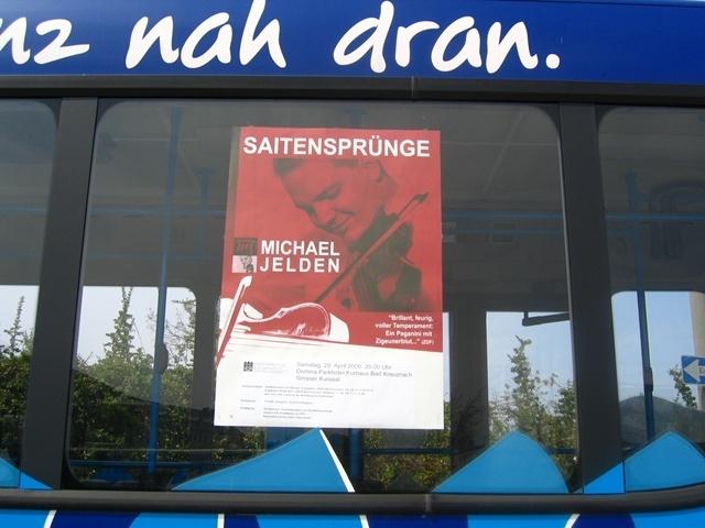 Plakatwerbung in unseren Bussen