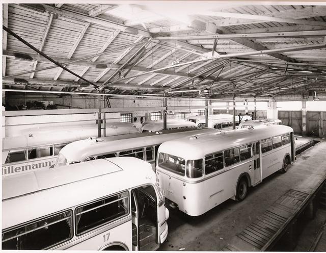 Abstellung Wagenhalle 1950