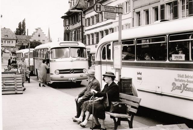 Busbahnhof Kornmarkt um 1958
