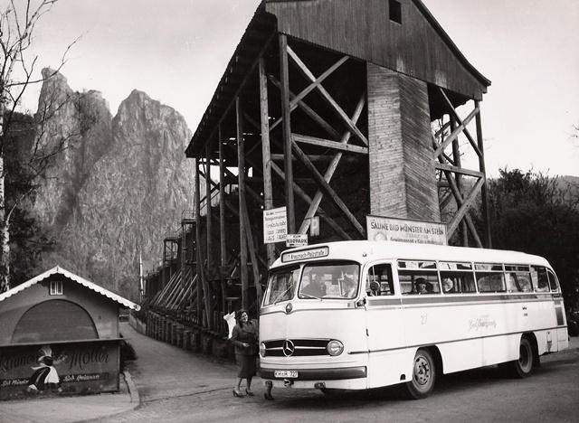 Omnibus in Bad Münster um 1960