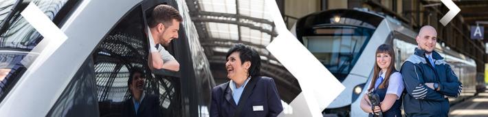 Transdev bietet freie Jobs für Lokführer und Zugbegleiter.