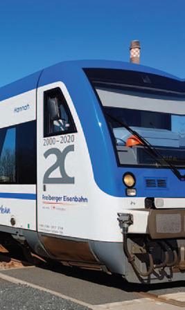 Zug der Freiberger Eisenbahn
