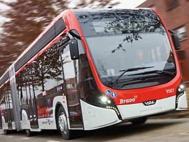 Elektrobusse von Transdev in Eindhoven
