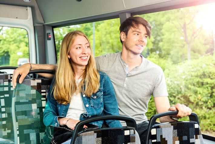 Im Bus zwischen Herzebrock und Clarholz