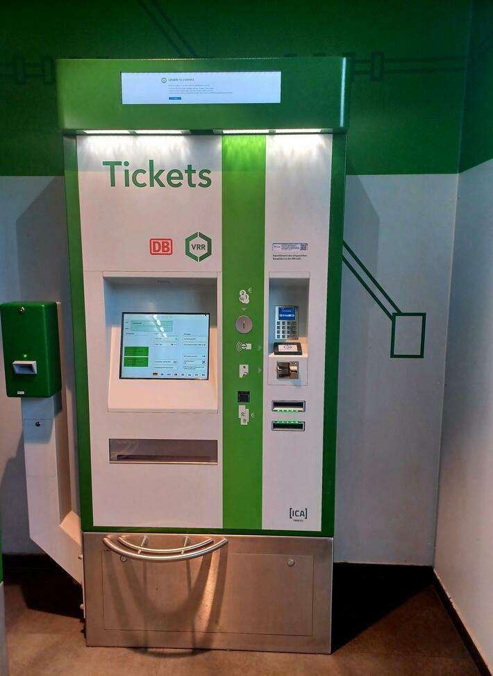 Transdev Fahrkartenautomat VRR Dülken